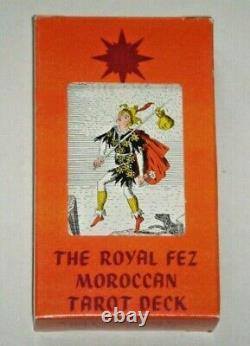 Royal Fez Moroccan Tarot. Very Rare OOP 78-Card Deck 1975. SEALED Pack, plus Bag
