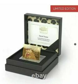 Royal Mail Only Fools and Horses Del Boy Gold Stamp Very Rare