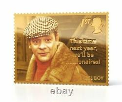 Royal Mail Only Fools and Horses Del Boy Gold Stamp Very Rare SOLD OUT