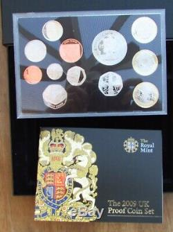 Royal Mint 2009 UK Proof 12 Coin Set Including VERY RARE Kew Gardens 50p