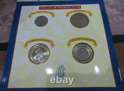 Royal Mint First Trial 1994 £2 4 Coin Pack The First UK Bi-Colour Coin Very Rare