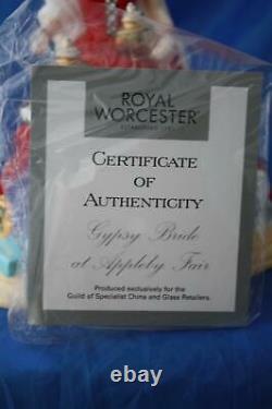 Royal Worcester Very Rare Gypsy Bride At Appleby Fair Figurine