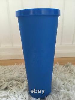 Starbucks Royal Cobalt Blue Matte Soft Touch Venti 24oz Tumbler Very Rare
