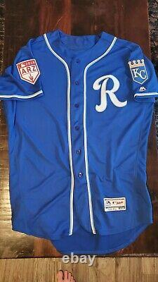 TEAM ISSUED Kansas City Royals Spring Training Jersey 48 Authenticated VERY RARE