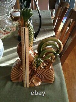 VERY RARE MCM Mid Century 1950's Royal Haeger Rooster TV lamp planter