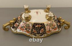 VERY RARE ROYAL CROWN DERBY IMARI 6299 TWIN HANDLED DISH c. 1910 BEAUTIFUL