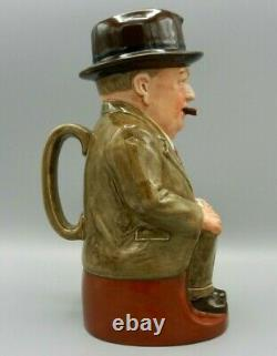 VERY RARE Royal Doulton Toby Jug CLIFF CORNELL LARGE TAN SUIT