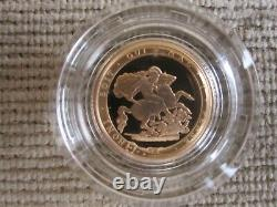 VERY RARE Royal Mint 2017 Proof 1/2 Sovereign 22ct Gold Coin Excellent Condition