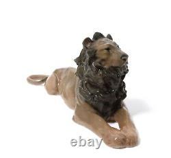 VERY RARE porcelian figure Royal Copenhagen #164 Lion by Jessie Borlwiych