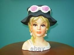 VTG Headvase Royal Crown 3411 Sunglasses Blue Eyes Blonde Large Hat 7 VERY RARE