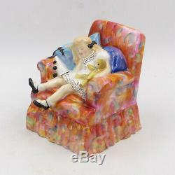 Very RARE 1952 Royal Doulton HN 2114 SLEEPYHEAD Girl in Chair 5 Figurine