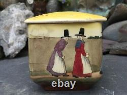 Very Rare Art Deco Royal Doulton Seriesware Trinket Box Welsh Ladies D2717