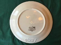Very Rare Currier And & Ives Egg Plate Royal China 10 3/4 Eggplate Blue Print