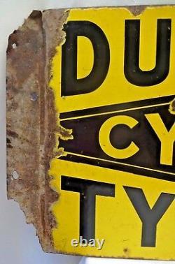 Very Rare Dunlop Cycle Tire Vintage Porcelain Sign Imperial Enamel Co Birmingham