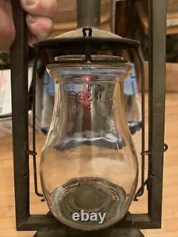 Very Rare No1. B. SG&L Royal Tubular Lantern With Rarer SG&L No. 0 Tubular Globe