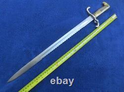 Very Rare Original Imperial German M1871 Sawback Bayonet And Scabbard Rare Maker