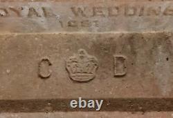 Very Rare Princess Diana Spencer Royal Wedding Brick 1981 Prince Charles Lbc CD