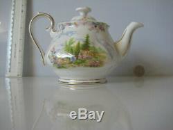 Very Rare Royal Albert England Kentish Rockery One Person Small Teapot