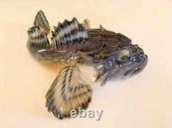 Very Rare Royal Copenhagen Art Nouveau Sculpin or Scorpion Fish Figurine #371