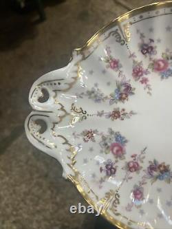 Very Rare Royal Crown Derby Royal Antoinette Duchess Dish Beautiful