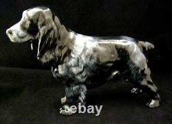 Very Rare Royal Doulton Black Spaniel Hn1020 Med Lucky Stars Of Ware Damaged