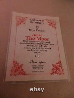 Very Rare Royal Doulton Flambe Figure The Moor Hn 3642 Ltd. Ed. 150 Perfect