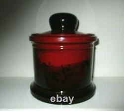 Very Rare Royal Doulton Flambe Tobacco Jar Hunting Scenes Excellent