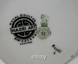 Very Rare Royal Doulton Seriesware Cup And Saucer Maori Art E4988 Perfect