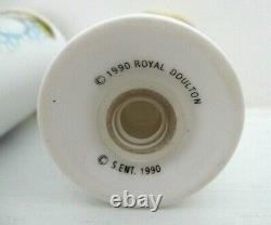 Very Rare Royal Doulton Snowman Salt And Pepper Cruet Set Perfect
