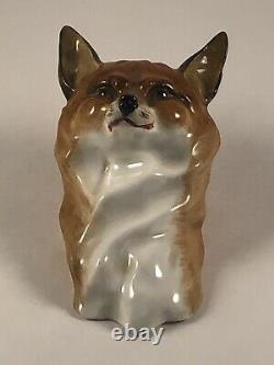 Very Rare Royal Worcester Fox & Hound Figurines 3024 & 3025 By Doris Lindner