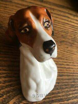 Very Rare Royal Worcester Fox & Hound Figurines 3024 By Doris Lindner