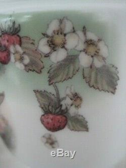 Very Rare Royal Worcester Large 2 Egg Size Coddler Strawberry Flower Fairy