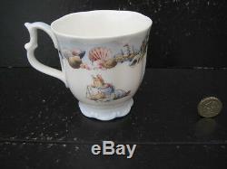 Very Rare Vintage Royal Doulton Brambly Hedge Rigging The Boat Beaker Mug 1st