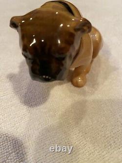 Very Rare Vintage Royal Doulton Bulldog Seated HN 881 2 3/4 Small Brindle