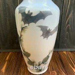 Very rare art nouveau Royal Copenhagen vase with bats 475 231 antique porcelain