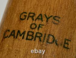 Vintage 1937 Grays of Cambridge Royal Blue, very rare wooden tennis racquet