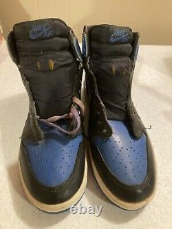 Vintage 1985 Nike Air Jordan 1 Royal Blue and Black Very Rare Never Worn Size 11