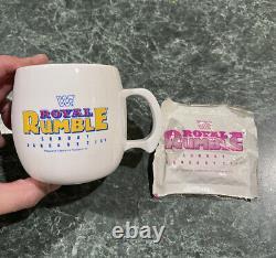 Vintage 1990 Royal Rumble Coffee / Tea Mug with Hot Chocolate Packet VERY RARE