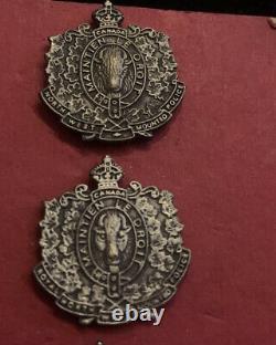Vintage RCMP Royal Canadian Mounted Police Pin-backs / Pin Badges Very Rare X4