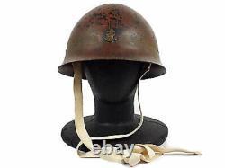 Vintage WW2 Imperial JP Iron Helmet Navy Type 90 Very Rare Free Ship