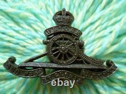 WW2 Royal Artillery PLASTIC Economy Cap Badge KC ANTIQUE Original Very RARE