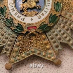 WW2 SPAIN Royal and Military Order of Saint Hermenegild-Badge VERY RARE -RARE -R